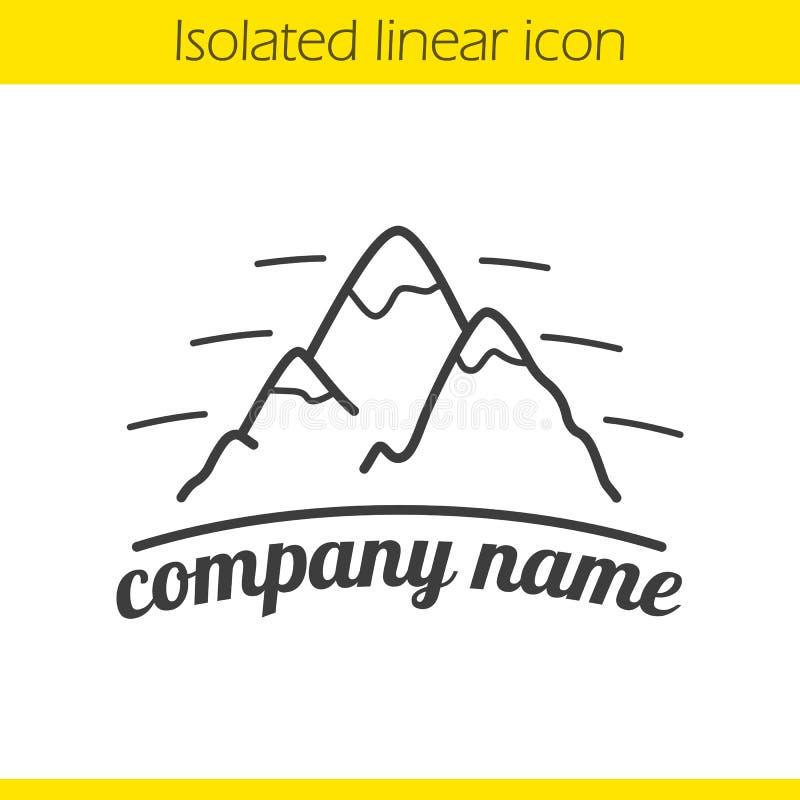 Icono linear de las montañas stock de ilustración