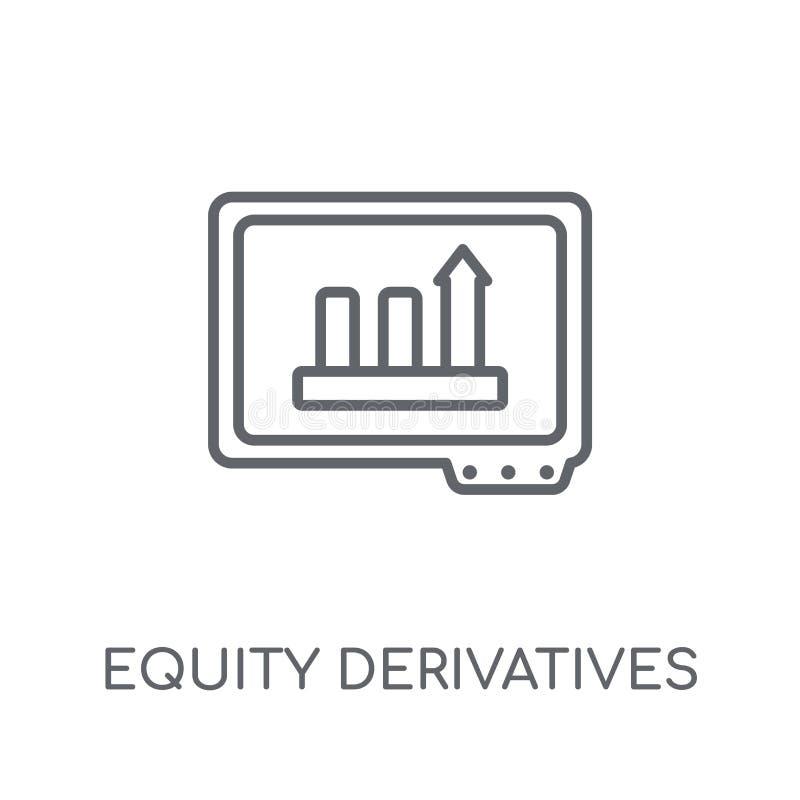 Icono linear de los derivados de la equidad Derivado moderno de la equidad del esquema libre illustration
