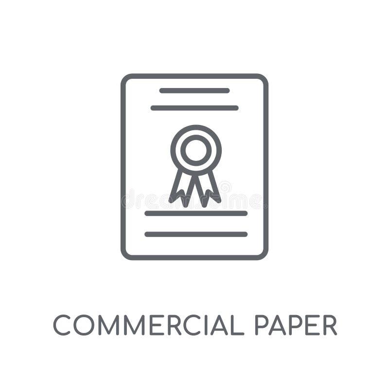 Icono linear de papel comercial Lo de papel comercial del esquema moderno ilustración del vector