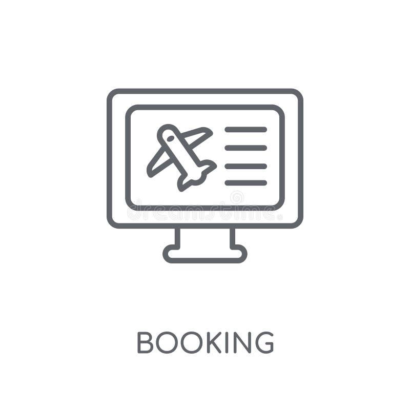 Icono linear de reservación Concepto moderno del logotipo de la reservación del esquema en pizca stock de ilustración