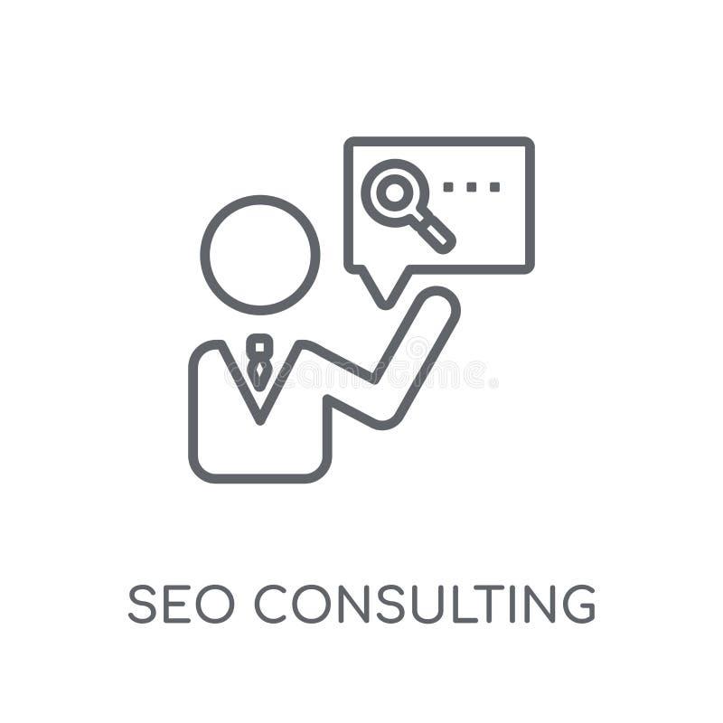 Icono linear de Seo Consulting Logotipo moderno c de Seo Consulting del esquema ilustración del vector