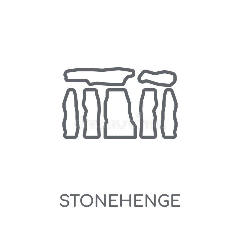 Icono linear de Stonehenge Concepto moderno o del logotipo de Stonehenge del esquema stock de ilustración