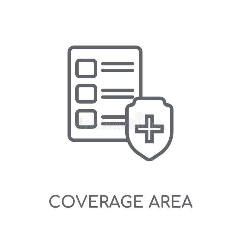 Icono linear del área de la cobertura Estafa moderna del logotipo del área de la cobertura del esquema libre illustration