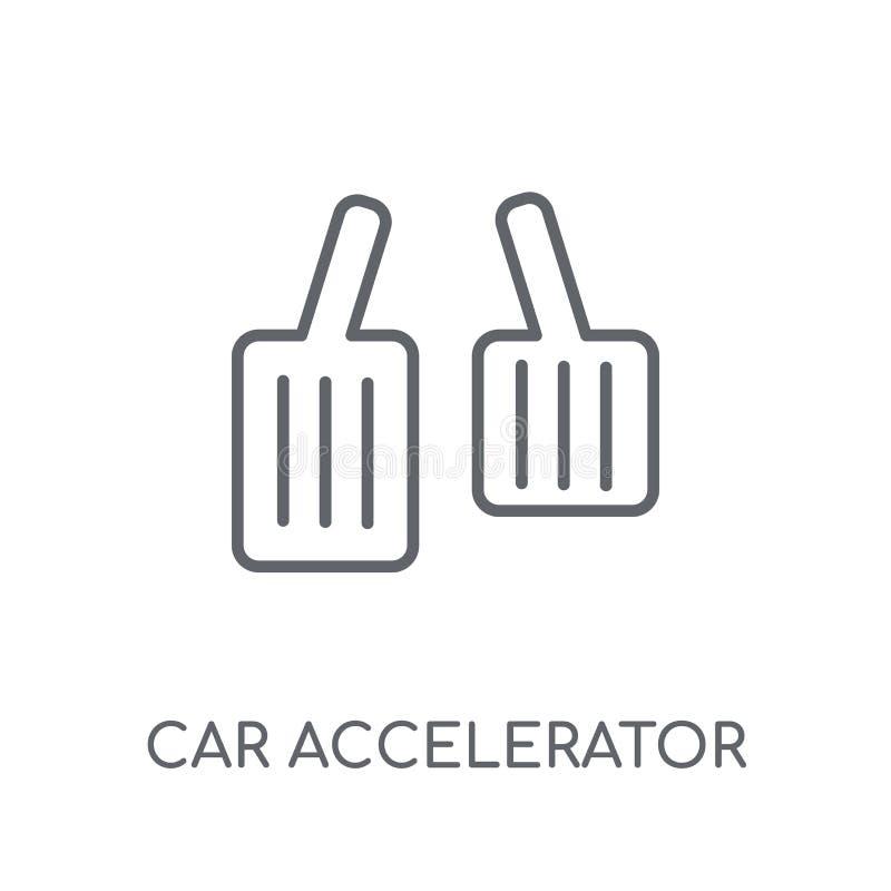 icono linear del acelerador del coche Logotipo moderno del acelerador del coche del esquema stock de ilustración