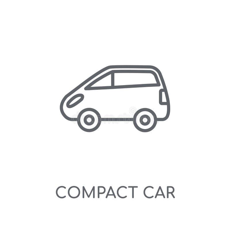 icono linear del coche compacto Concepto moderno del logotipo del coche compacto del esquema stock de ilustración