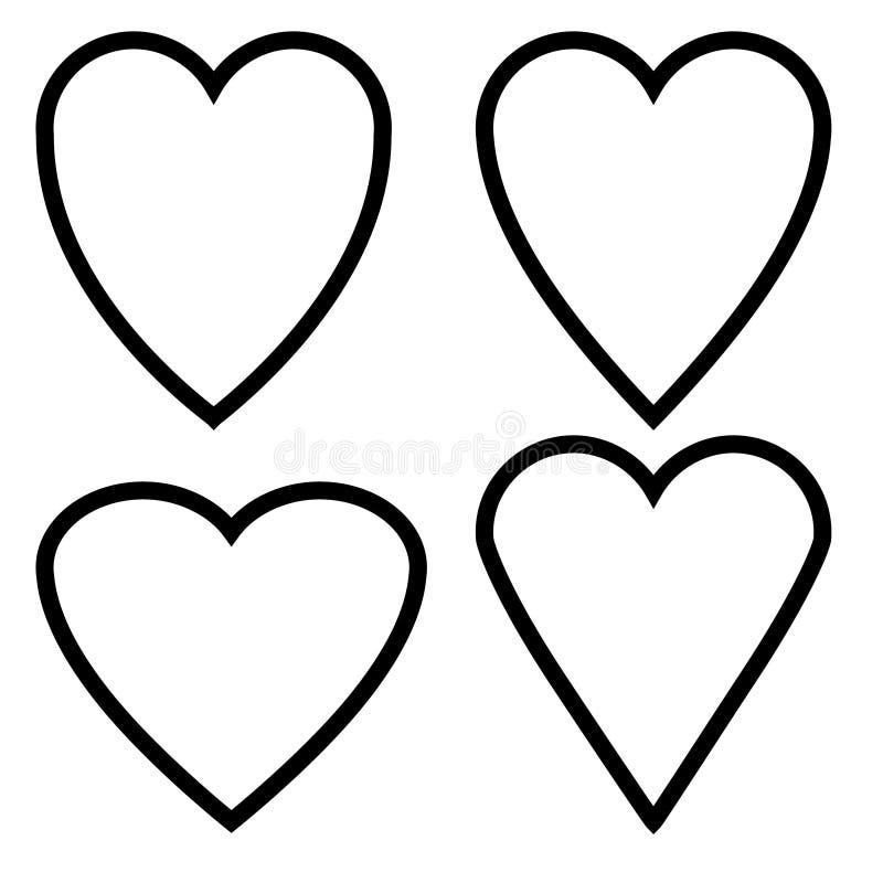 Icono linear del corazón, línea gris fina de los iconos lineares del vector libre illustration