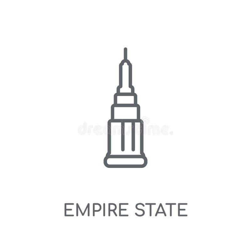 Icono linear del estado del imperio Conce moderno del logotipo del estado del imperio del esquema ilustración del vector