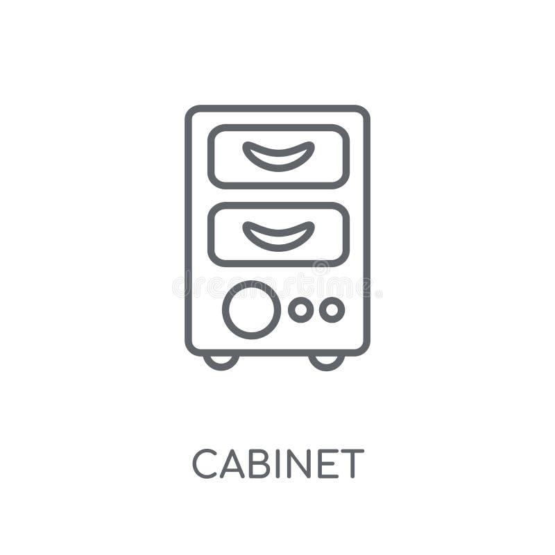 Icono linear del gabinete Concepto moderno del logotipo del gabinete del esquema en pizca ilustración del vector