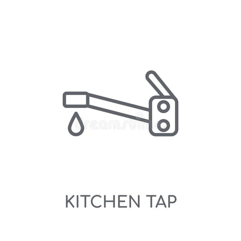 icono linear del golpecito de la cocina Concepto moderno del logotipo del golpecito de la cocina del esquema libre illustration