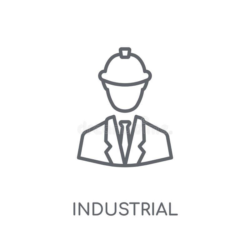 icono linear del ingeniero industrial Esquema moderno Engin industrial libre illustration