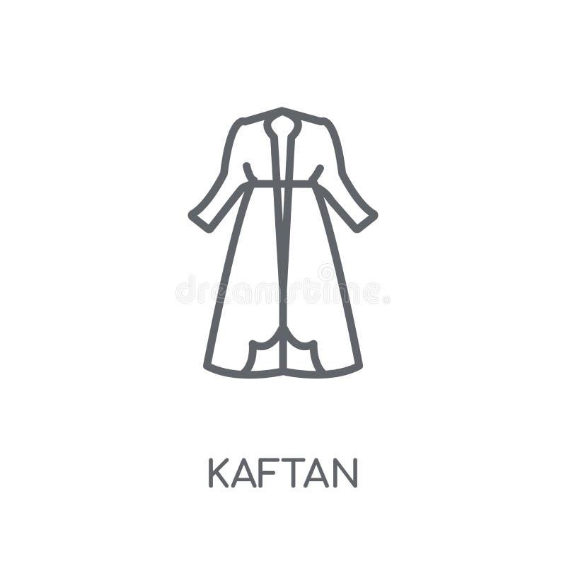 Icono linear del Kaftan Concepto moderno del logotipo del Kaftan del esquema en blanco ilustración del vector