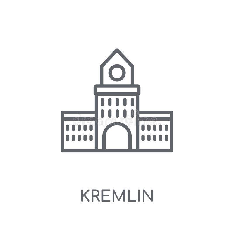 Icono linear del Kremlin Concepto moderno del logotipo del Kremlin del esquema en pizca ilustración del vector