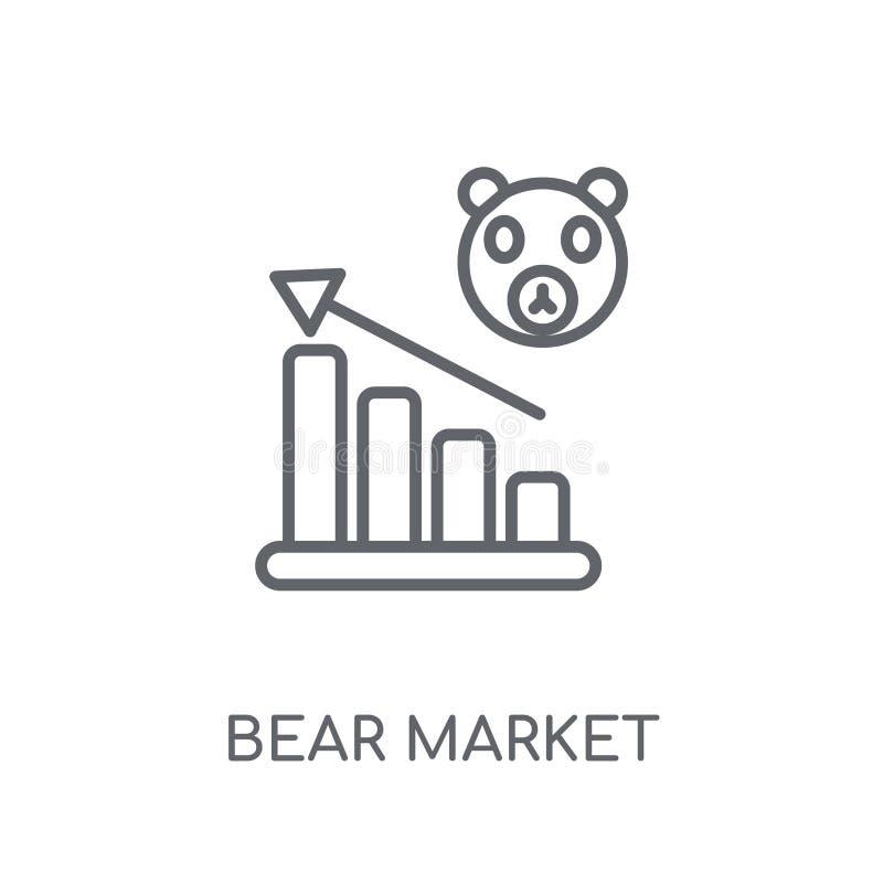 Icono linear del mercado bajista Concepto moderno del logotipo del mercado bajista del esquema libre illustration