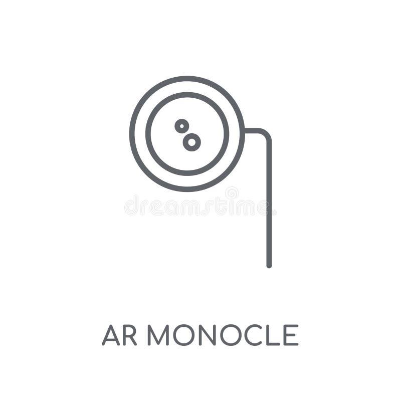 Icono linear del monóculo de AR Concepto moderno o del logotipo del monóculo de AR del esquema libre illustration