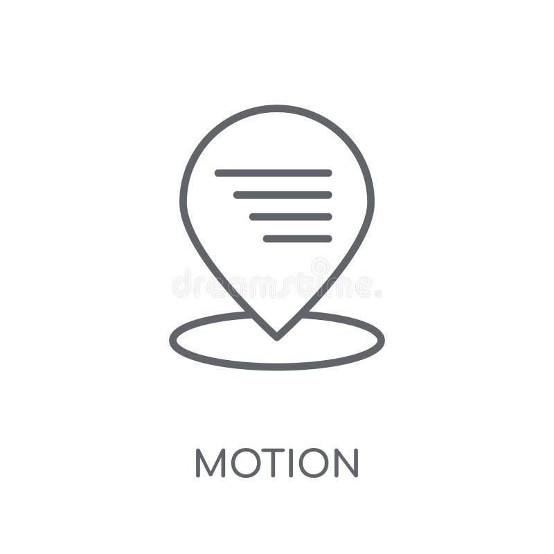 Icono linear del movimiento Concepto moderno del logotipo del movimiento del esquema en blanco libre illustration