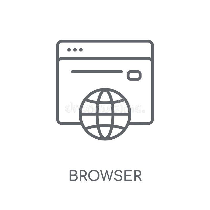 Icono linear del navegador Concepto moderno del logotipo del navegador del esquema en pizca libre illustration
