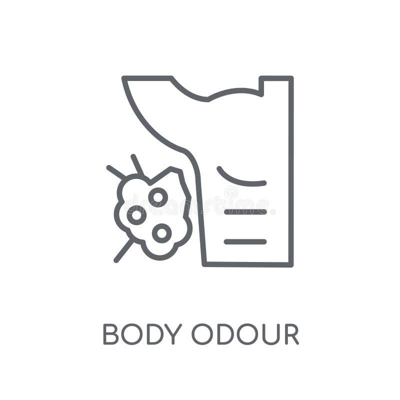 icono linear del olor corporal Concepto moderno o del logotipo del olor corporal del esquema ilustración del vector