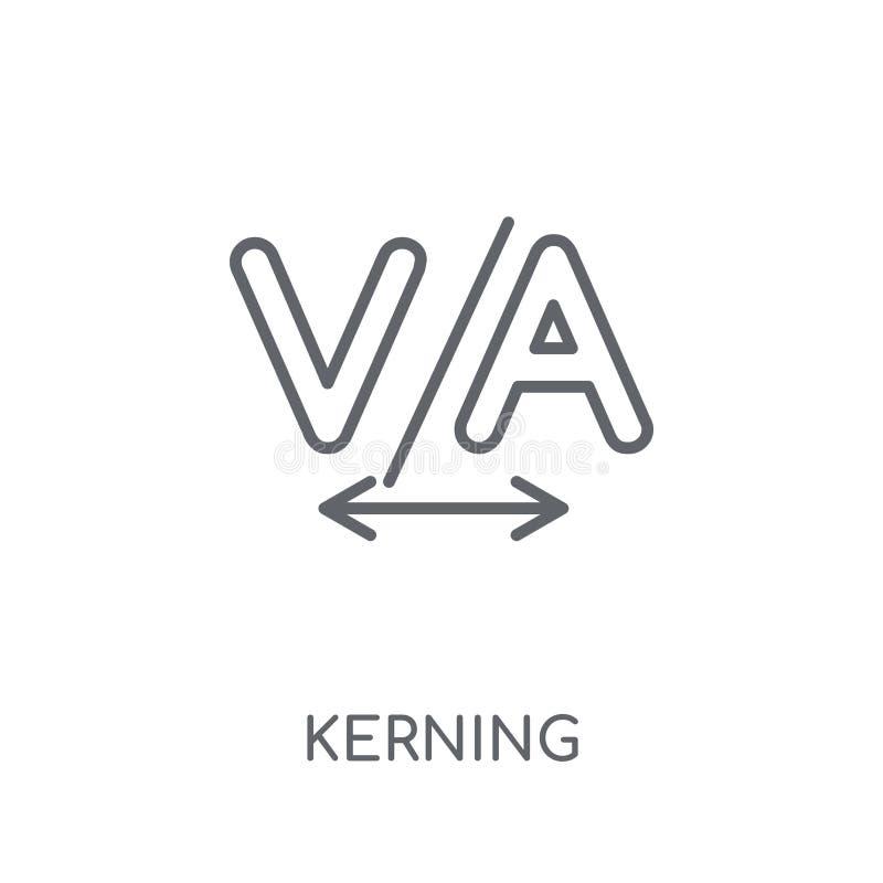 Icono linear del perfil fuera de línea Concepto moderno del logotipo del perfil fuera de línea del esquema en pizca stock de ilustración