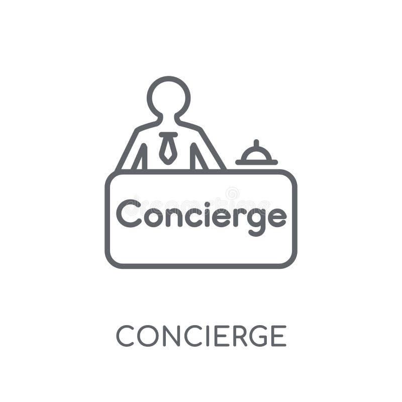 Icono linear del portero Concepto moderno del logotipo del portero del esquema encendido libre illustration