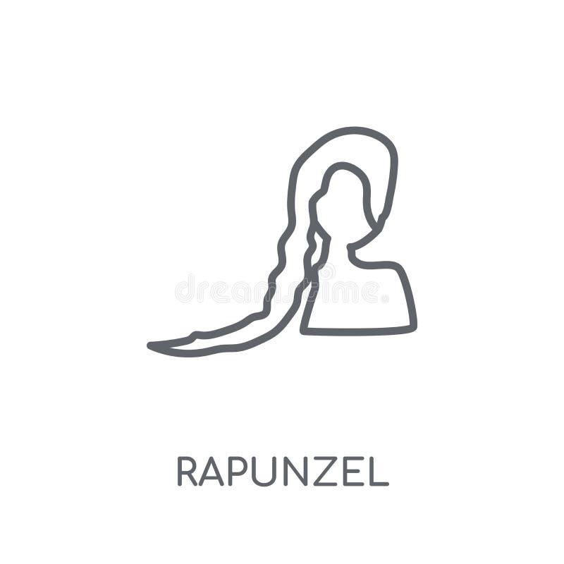 icono linear del rapunzel Concepto moderno del logotipo del rapunzel del esquema en wh libre illustration