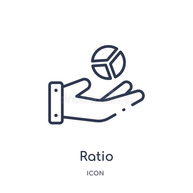 Icono linear del ratio de la colección del esquema del márketing Línea fina icono del ratio aislado en el fondo blanco ejemplo de libre illustration