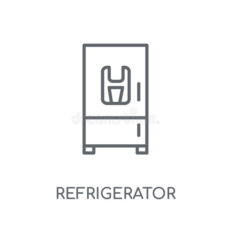 Icono linear del refrigerador Conce moderno del logotipo del refrigerador del esquema libre illustration