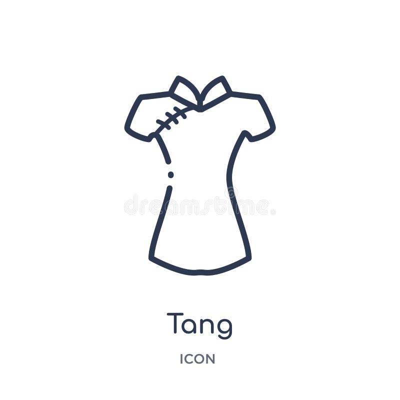 Icono linear del sabor de la colección asiática del esquema Línea fina vector del sabor aislado en el fondo blanco ejemplo de mod libre illustration