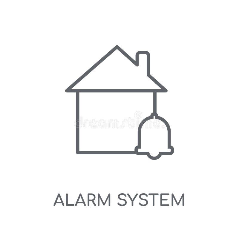 icono linear del sistema de alarma Conce moderno del logotipo del sistema de alarma del esquema ilustración del vector