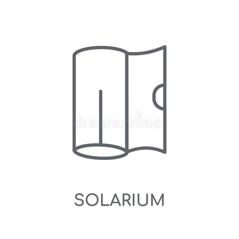 icono linear del solarium Concepto moderno del logotipo del solarium del esquema en wh stock de ilustración