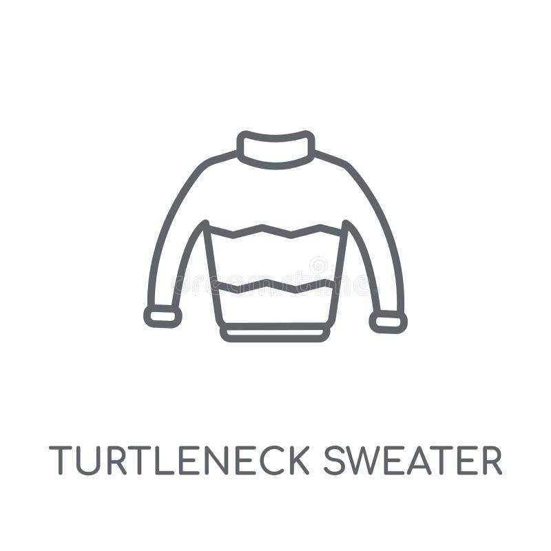 Icono linear del suéter del cuello alto Cuello alto moderno Sweate del esquema libre illustration