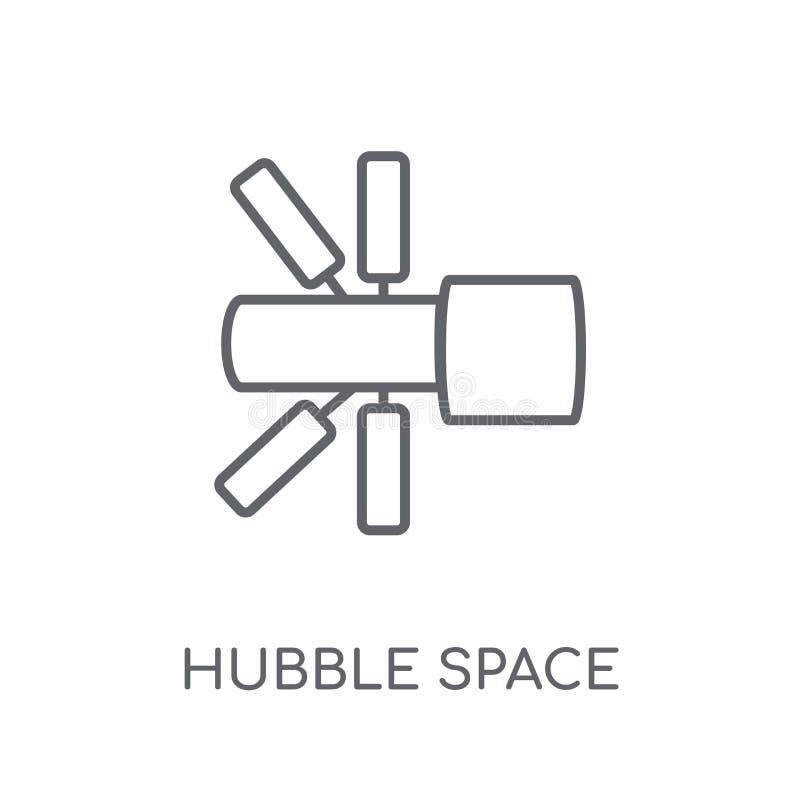 Icono linear del telescopio espacial de Hubble Espacio moderno de Hubble del esquema ilustración del vector