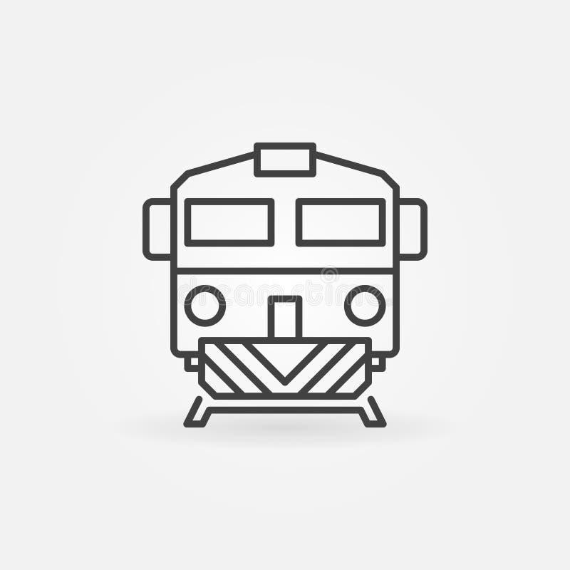 Icono linear del tren ilustración del vector
