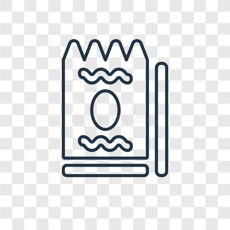 Icono linear del vector del concepto del bocado aislado en backgro transparente stock de ilustración