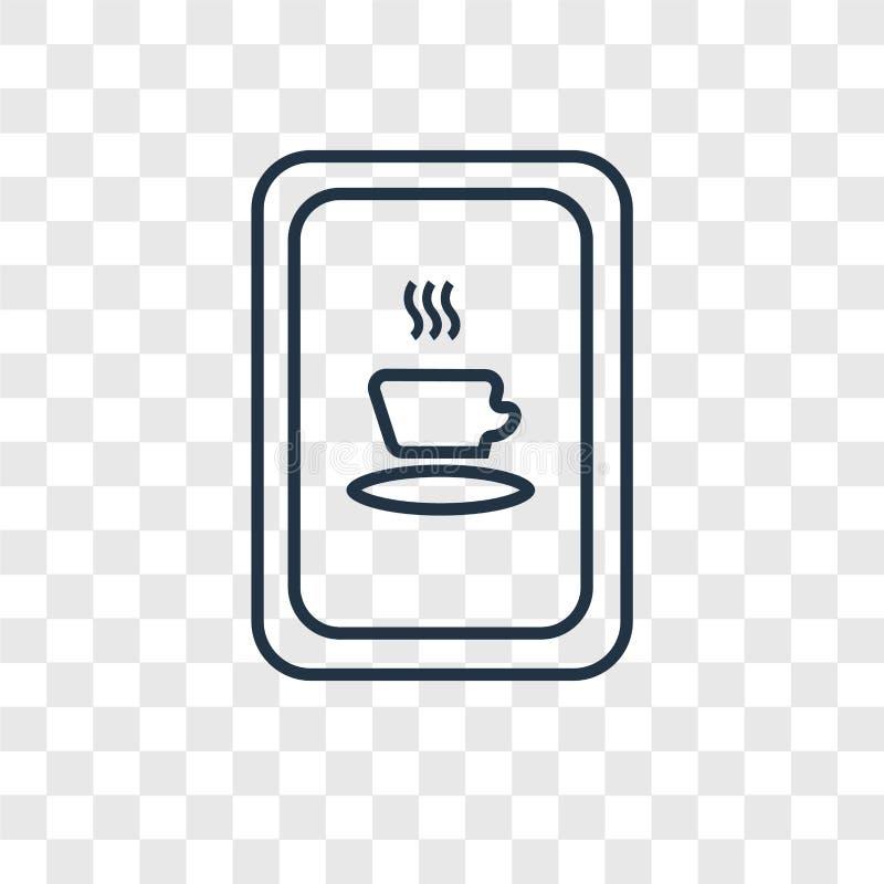Icono linear del vector del concepto del café aislado en backgrou transparente libre illustration