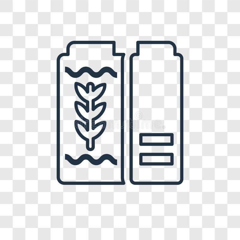 Icono linear del vector del concepto del cereal aislado en backgr transparente ilustración del vector