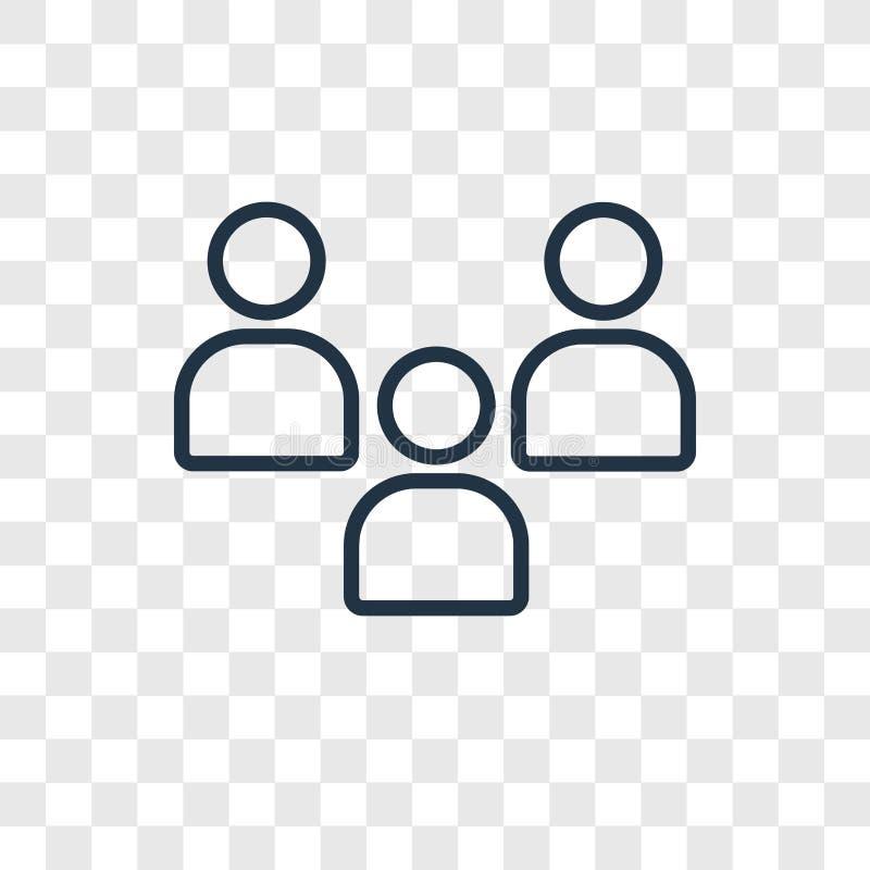 Icono linear del vector del concepto de la audiencia aislado en la parte posterior transparente libre illustration