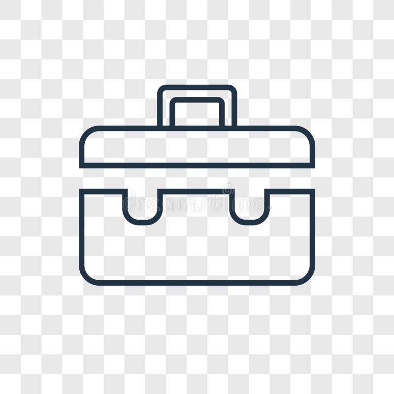 Icono linear del vector del concepto de la cartera aislado en el CCB transparente stock de ilustración