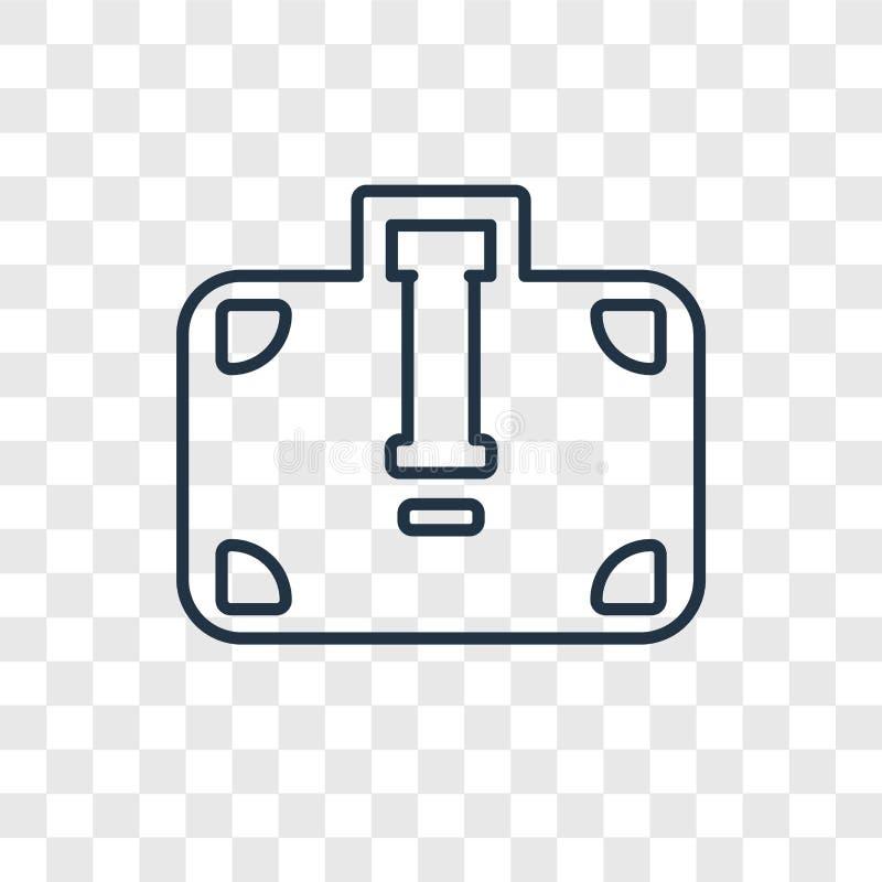 Icono linear del vector del concepto de la cartera aislado en el CCB transparente libre illustration