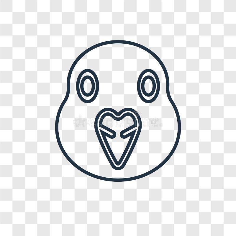 Icono linear del vector del concepto de la paloma aislado en backgrou transparente libre illustration