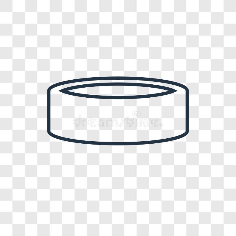 Icono linear del vector del concepto de los pantalones aislado en backgro transparente libre illustration