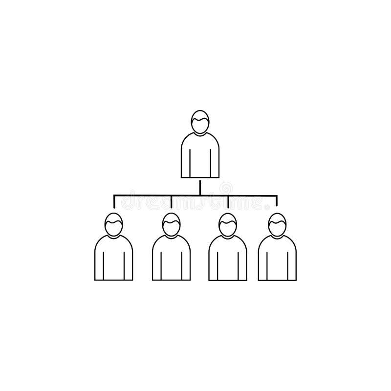 Icono linear del vector de la estructura jerárquica libre illustration