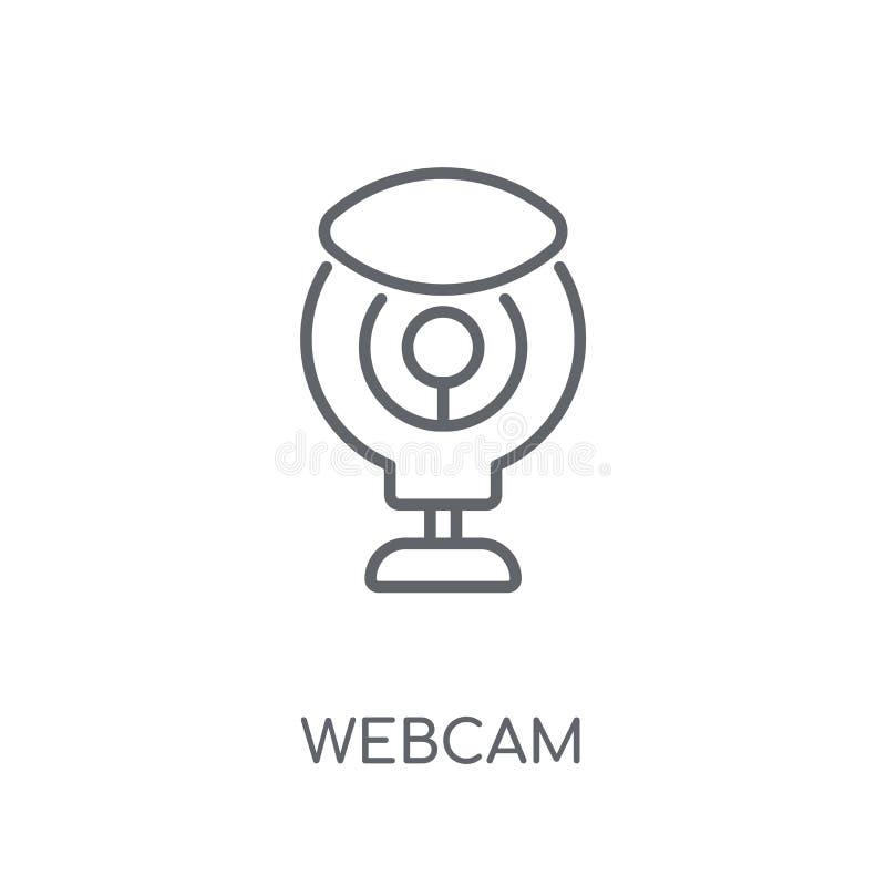 Icono linear del webcam Concepto moderno del logotipo del webcam del esquema en blanco ilustración del vector