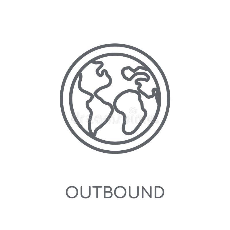 Icono linear el extranjero Concepto el extranjero del logotipo del esquema moderno en wh libre illustration