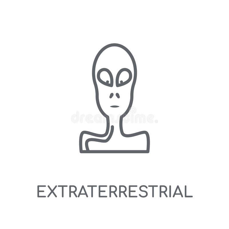 Icono linear extraterrestre Lo extraterrestre del esquema moderno libre illustration