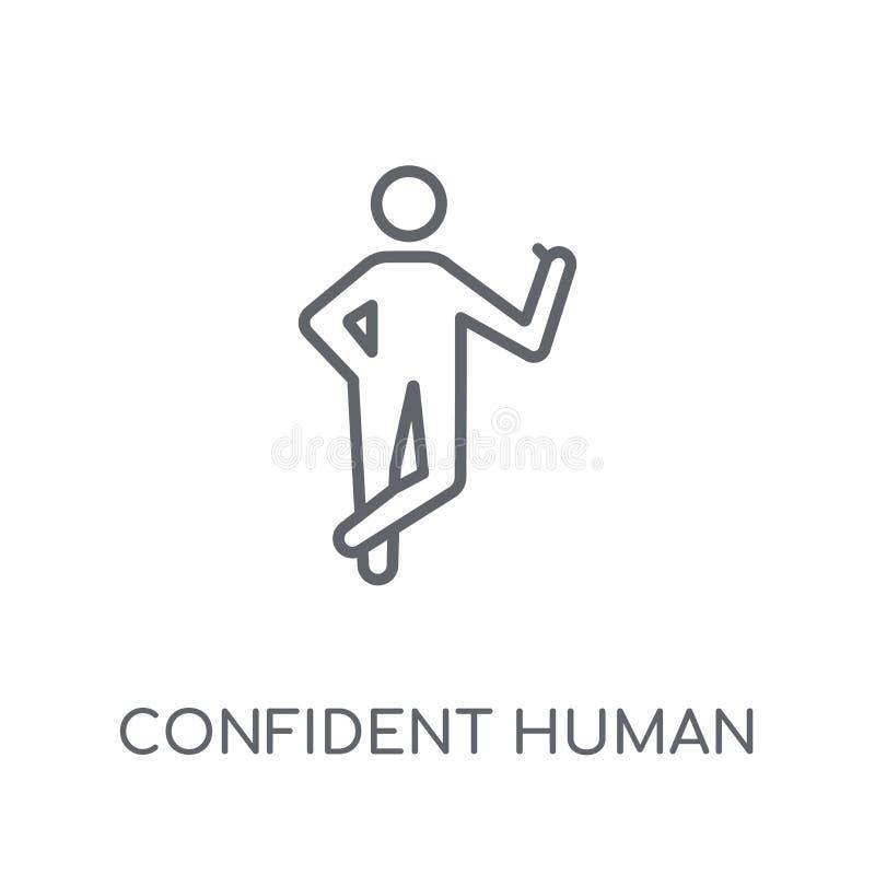 icono linear humano confiado Logotipo humano confiado del esquema moderno libre illustration