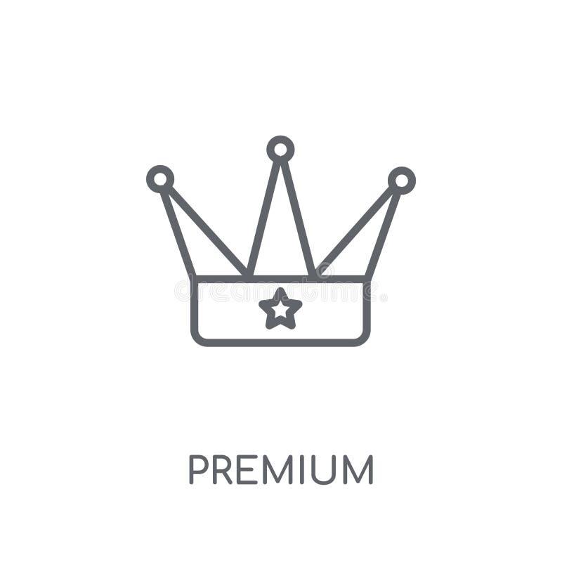 Icono linear superior Concepto superior del logotipo del esquema moderno en pizca stock de ilustración