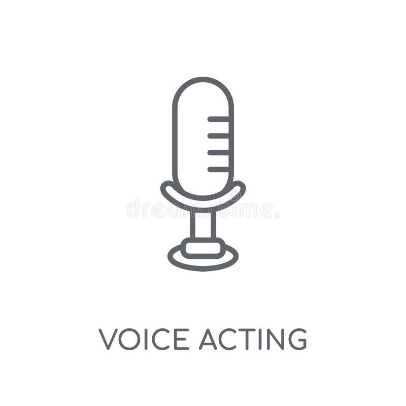 icono linear temporario de la voz Conce temporario del logotipo de la voz moderna del esquema ilustración del vector