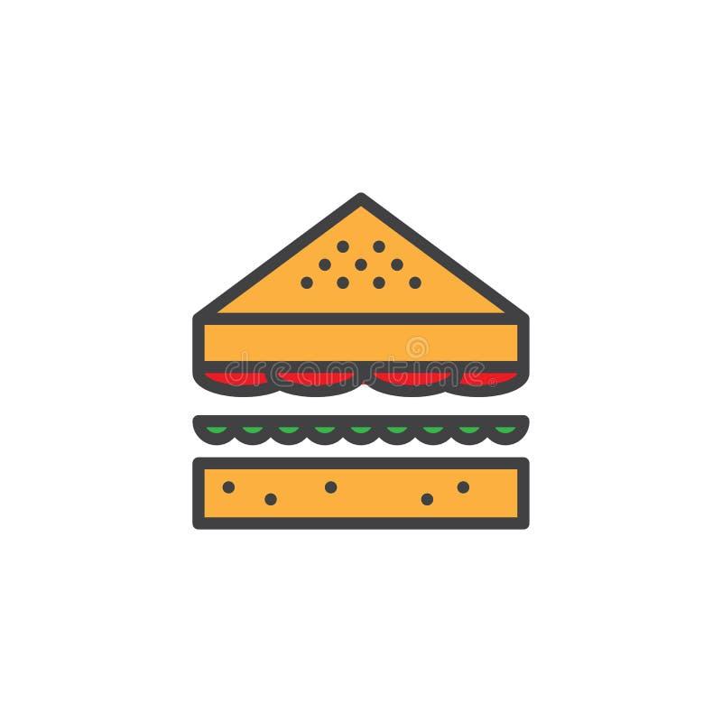 Icono llenado bocadillo del esquema stock de ilustración