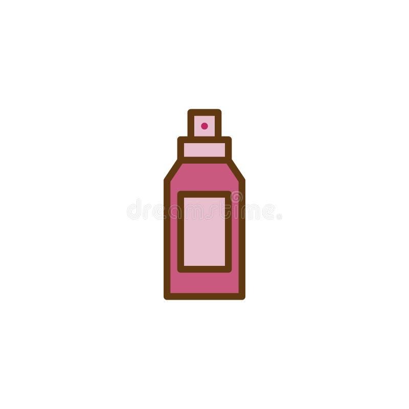 Icono llenado botella del esquema del desodorante stock de ilustración