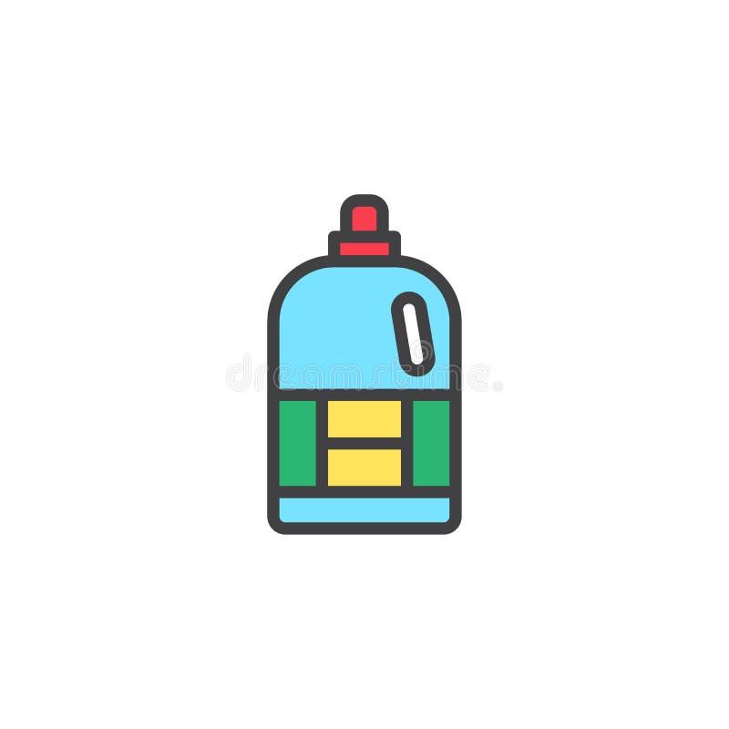 Icono llenado botella del esquema del suavizador libre illustration